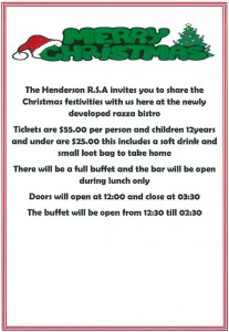 Xmas Luncheon Poster